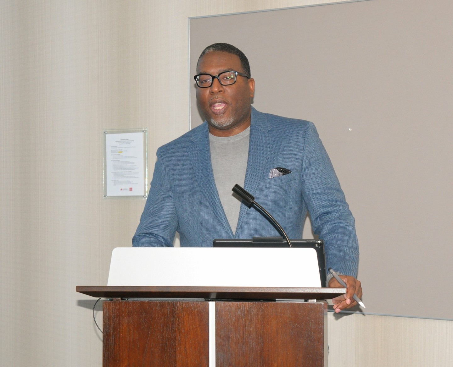Miguel Moderators Goverment Contracting Conversation for the Atlanta Black Chambers