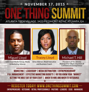 Lloyd Media Group Presents The One Thing Summit 2015
